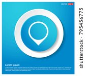map pin icon abstract blue web...
