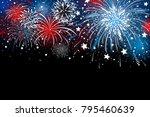 fireworks background design... | Shutterstock .eps vector #795460639