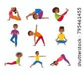 cute cartoon gymnastics for...   Shutterstock . vector #795461455
