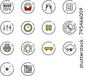line vector icon set   duty... | Shutterstock .eps vector #795466009