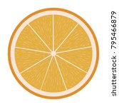 flat design icon of orange in...