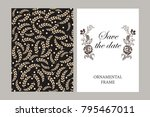 wedding invitation  thank you... | Shutterstock .eps vector #795467011
