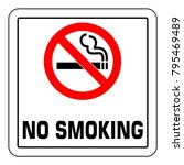 no smoking  sign. forbidden... | Shutterstock .eps vector #795469489