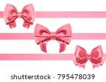 three invention satin pink... | Shutterstock . vector #795478039