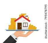 house and money vector. free... | Shutterstock .eps vector #795478795