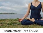 female person in blue... | Shutterstock . vector #795478951