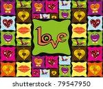 vector romantic pattern... | Shutterstock .eps vector #79547950