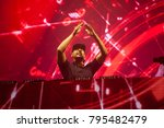Small photo of Cluj-Napoca, Romania - August 6, 2017: Afrojack, a Dutch DJ, record producer and remixer from Spijkenisse performing on stage at Untold Festival, the Best Major Music Festival of Europe