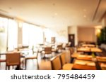 abstract blur buffet restaurant ... | Shutterstock . vector #795484459