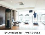 abstract blur fitness equipment ... | Shutterstock . vector #795484465