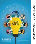 idea concept for business... | Shutterstock .eps vector #795484651
