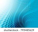 abstract  blue technology ... | Shutterstock . vector #795485629