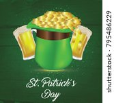 st patrick's day  17 march  | Shutterstock .eps vector #795486229
