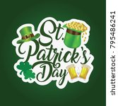 st patrick's day  17 march  | Shutterstock .eps vector #795486241