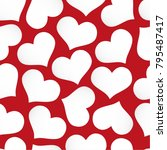 paper seamless pattern with... | Shutterstock .eps vector #795487417