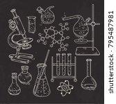 vector illustration sketch set... | Shutterstock .eps vector #795487981