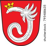 coat of arms of ahlen is a town ... | Shutterstock .eps vector #795488635