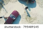 aerial view on robbers with... | Shutterstock . vector #795489145