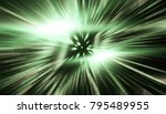 fractal explosion star with... | Shutterstock . vector #795489955