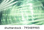 abstract bright neon motion... | Shutterstock . vector #795489985
