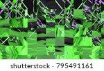 bright abstract mosaic green... | Shutterstock . vector #795491161