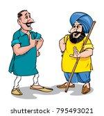 punjabi people in india | Shutterstock .eps vector #795493021