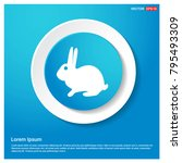 rabbit icon abstract blue web... | Shutterstock .eps vector #795493309