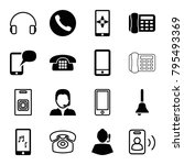 call icons. set of 16 editable... | Shutterstock .eps vector #795493369