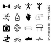 lifestyle icons. set of 16... | Shutterstock .eps vector #795493387
