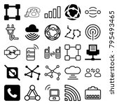 connect icons. set of 25... | Shutterstock .eps vector #795493465
