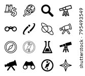 discovery icons. set of 16... | Shutterstock .eps vector #795493549