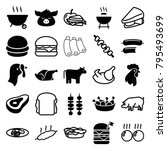 meat icons. set of 25 editable... | Shutterstock .eps vector #795493699