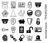 security icons. set of 25...   Shutterstock .eps vector #795493789