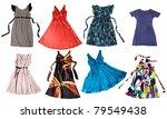 colorful dresses for girls  ... | Shutterstock . vector #79549438