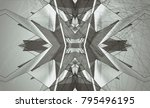 gray kaleidoscope patterns.... | Shutterstock . vector #795496195