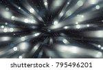 abstract blue bokeh circles on... | Shutterstock . vector #795496201