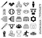 team icons. set of 25 editable... | Shutterstock .eps vector #795496879