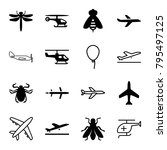 fly icons. set of 16 editable... | Shutterstock .eps vector #795497125