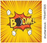 boom comic text speech bubble... | Shutterstock .eps vector #795497305