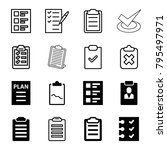 checklist icons. set of 16... | Shutterstock .eps vector #795497971
