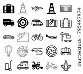 transportation icons. set of 25 ... | Shutterstock .eps vector #795497974