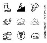 Walking Icons. Set Of 9...