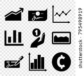 profit icons. set of 9 editable ... | Shutterstock .eps vector #795498919