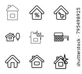 mortgage icons. set of 9...   Shutterstock .eps vector #795498925