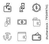 saving icons. set of 9 editable ... | Shutterstock .eps vector #795499741