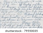 Old Fashioned Handwriting Ink...