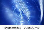 abstract background blue tunnel.... | Shutterstock . vector #795500749