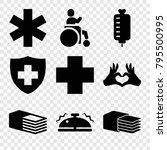 help icons. set of 9 editable... | Shutterstock .eps vector #795500995