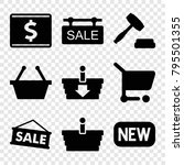 purchase icons. set of 9... | Shutterstock .eps vector #795501355