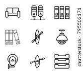 row icons set of 9 editable